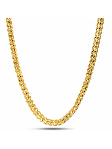 KING ICE Kette Gold_Plated 5mm Franco in goldfarben