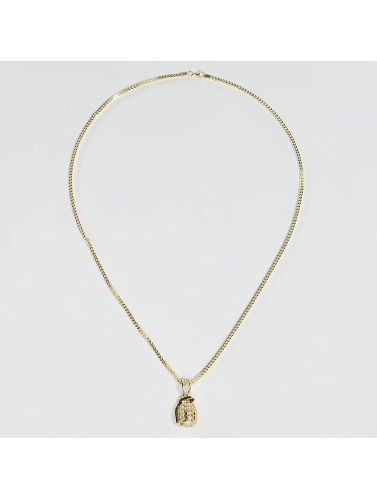 KING ICE Kette Gold_Plated CZ Hand Grenade in goldfarben