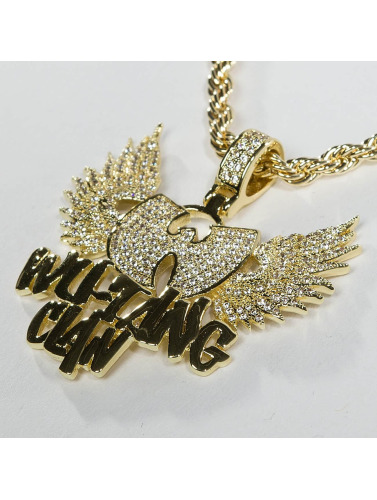 KING ICE Kette WU-TANG CLAN Gold_Plated CZ The Protect Ya in goldfarben