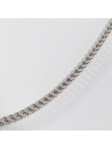 KING ICE Kette Rhodium_Plated 5mm Stainless Steel Franco Chain in silberfarben