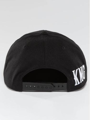 Kingin Snapback Cap Logo in schwarz