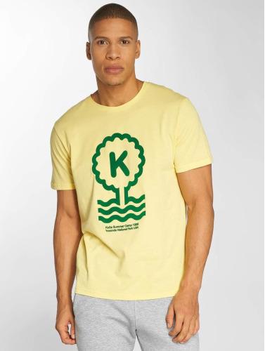 Kulte Hombres Camiseta Summer Cam in amarillo