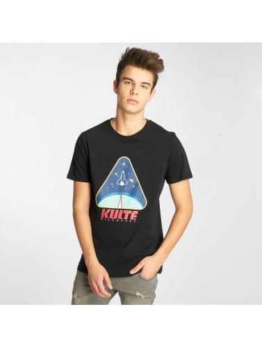Kulte Hombres Camiseta Discovery in negro