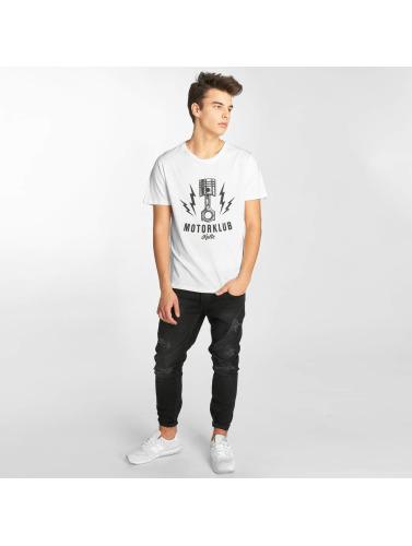 Kulte Herren T-Shirt Motorklub in weiß