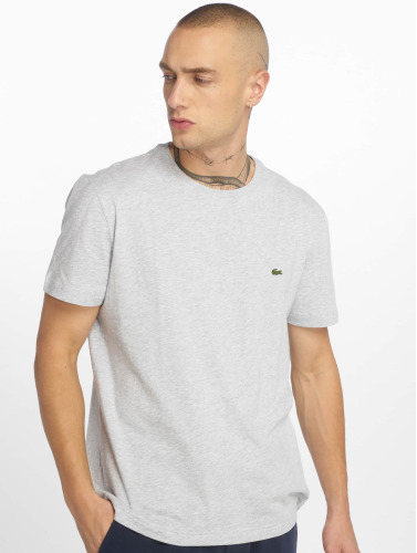 Lacoste Hombres Camiseta Basic in gris