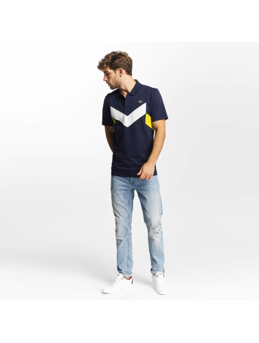 Lacoste Hombres Camiseta polo SHort Sleeved Ribbed Collar in colorido