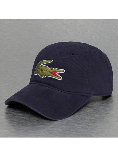 Lacoste Snapback Cap Logo in blau