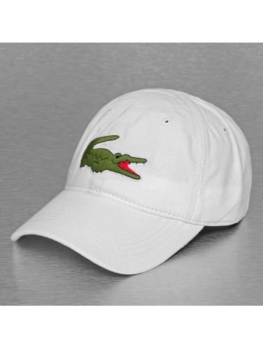 Lacoste Snapback Cap Logo in weiß