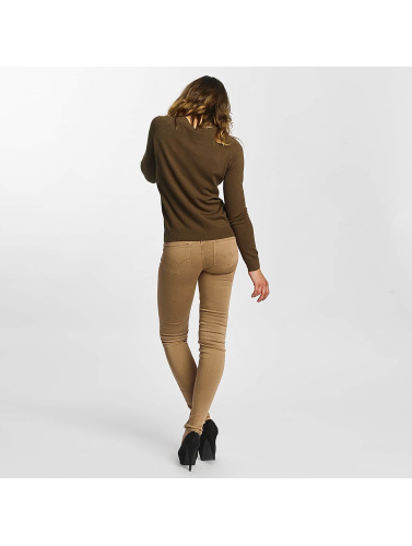 Le Temps Des Cerises Damen Slim Fit Jeans Ultrapower in braun