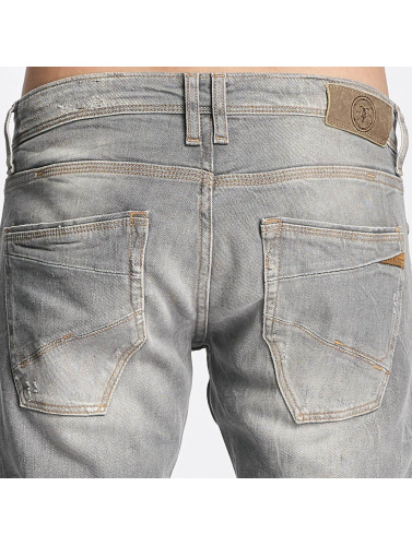 Le Temps Des Cerises Herren Straight Fit Jeans 711 Basic in grau