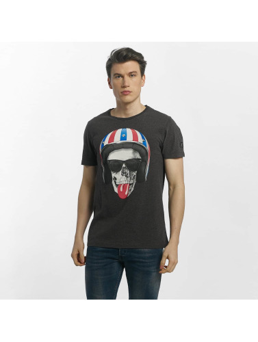 Le Temps Des Cerises Herren T-Shirt Allin in grau