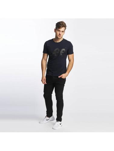 Lee Hombres Camiseta Logo in azul