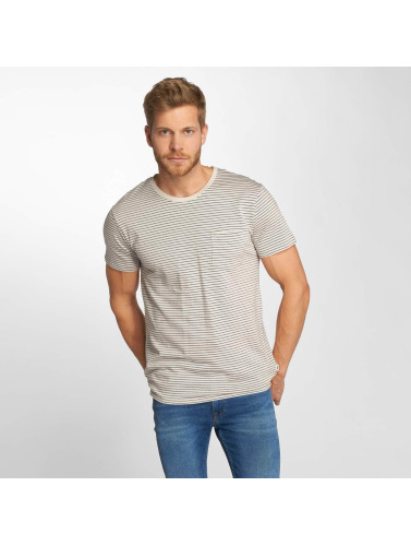 Lee Hombres Camiseta Stripe in beis