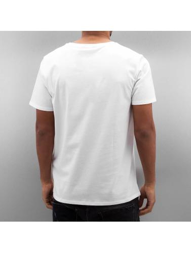 Lee Hombres Camiseta Logo in blanco