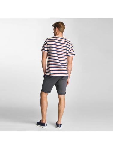 Lee Hombres Camiseta Stripe in blanco