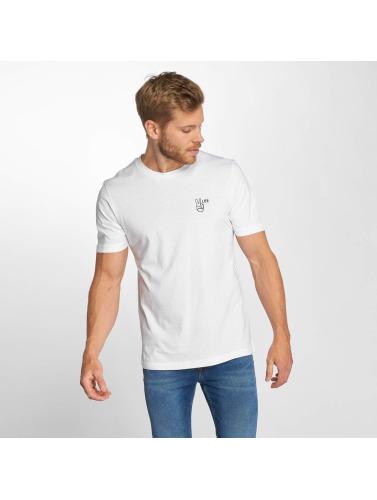 Lee Hombres Camiseta Peace in blanco