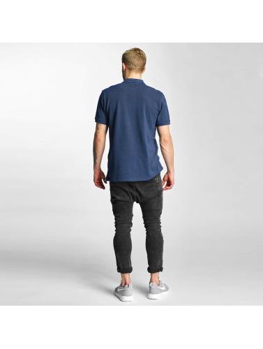 Lee Hombres Camiseta polo Pique in azul