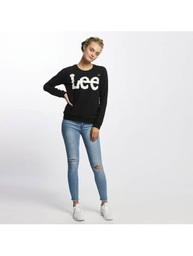 Lee Mujeres Jersey Logo in negro