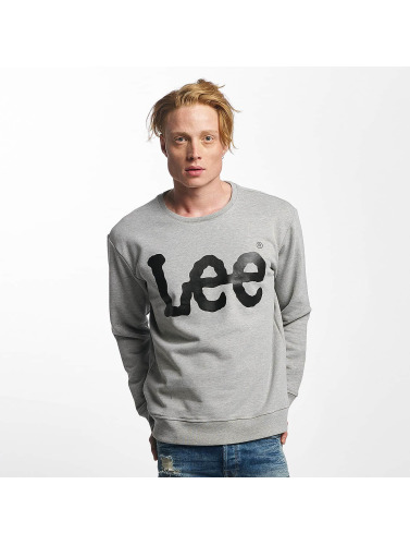Lee Herren Pullover Logo in grau