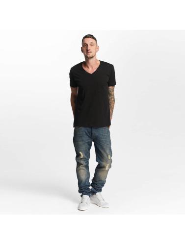 Lee Herren Slim Fit Jeans Rider Destroyed in blau