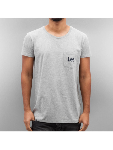 Lee Herren T-Shirt Pocket in grau