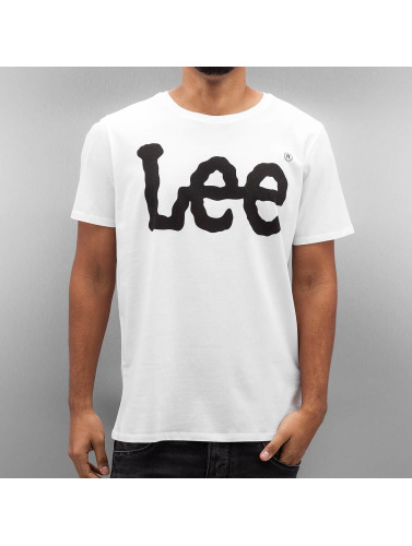 Lee Herren T-Shirt Logo in weiß