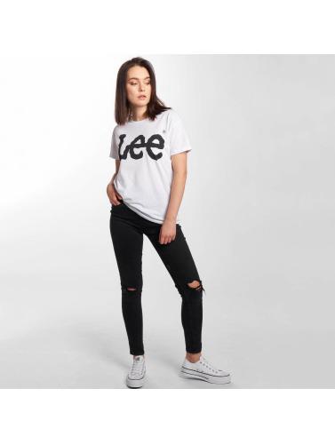 Lee Damen T-Shirt Logo in weiß