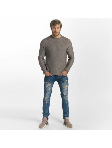 Leg Kings Hombres Jeans ajustado Destroyed in azul