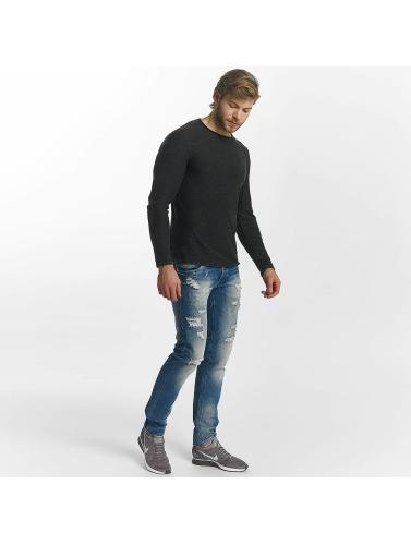 Leg Kings Hombres Jeans ajustado Destroyed in azul
