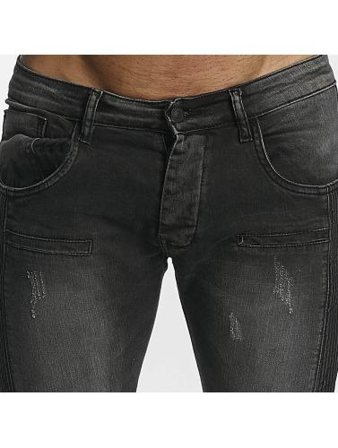 Leg Kings Hombres Jeans ajustado Guiliano in negro