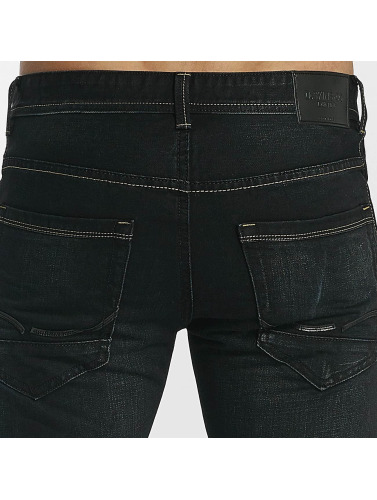 Leg Kings Hombres Jeans ajustado Washed in negro