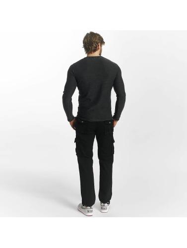 Leg Kings Herren Loose Fit Jeans Bags in schwarz