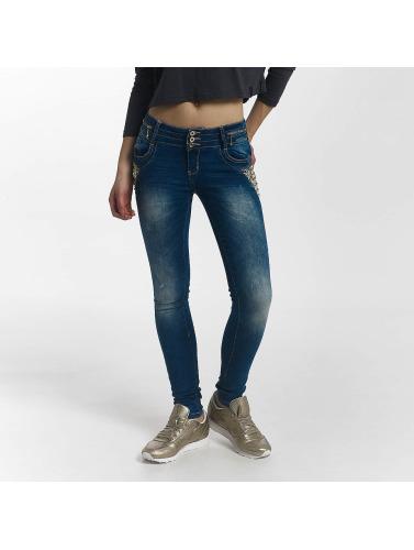 Leg Kings Damen Skinny Jeans Diamond in blau
