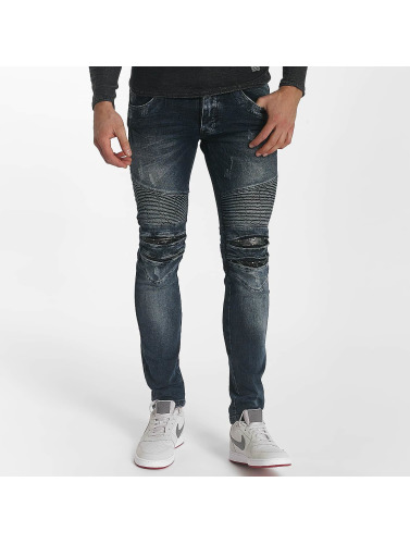 Leg Kings Herren Skinny Jeans Ribbed in blau