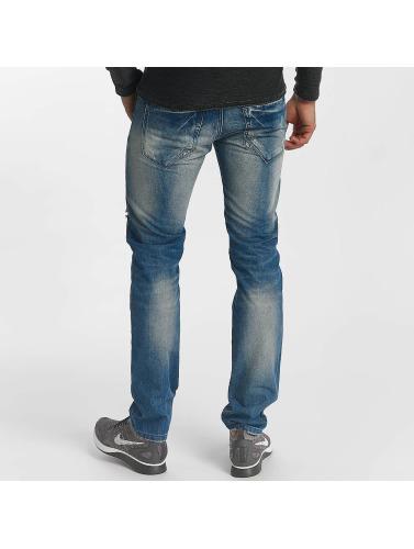 Leg Kings Herren Slim Fit Jeans Destroyed in blau