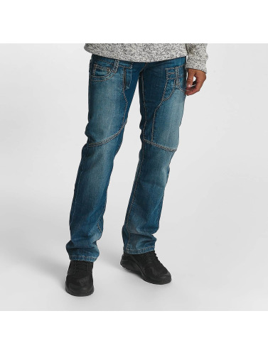 Leg Kings Herren Straight Fit Jeans Mikhail in blau