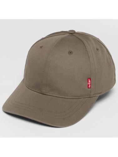 Levi's® Snapback Cap Classic Twill Red Tab in grau