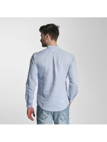 Lindbergh Hombres Camisa Structured in azul