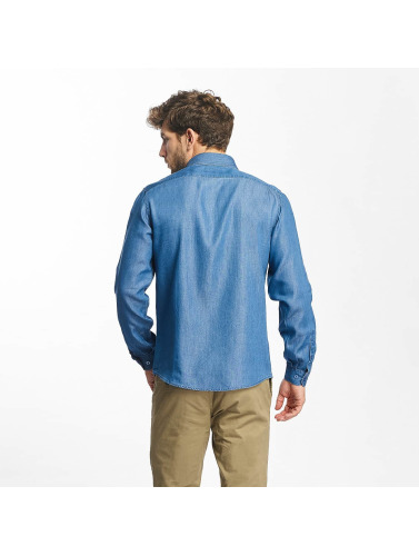 Lindbergh Herren Hemd Denim in blau