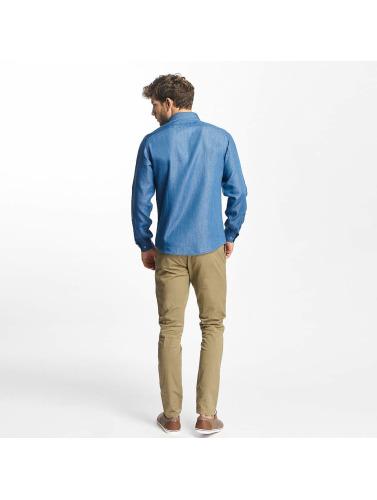 Lindbergh Herren Hemd Denim in blau Verkauf 100% Garantiert I4fiUyMl8v