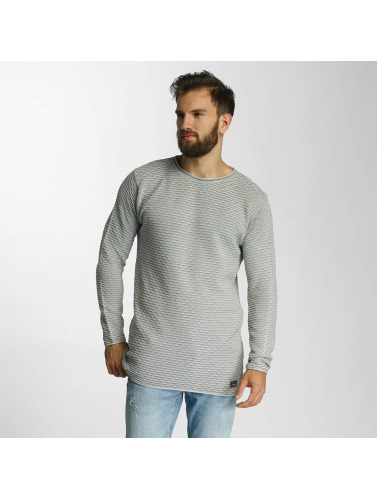 Lindbergh Hombres Jersey Acid Washed Knit in gris