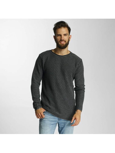 Lindbergh Herren Pullover Acid Washed Knit in schwarz