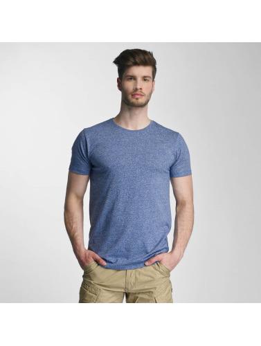 Lindbergh Herren T-Shirt Mouline in blau