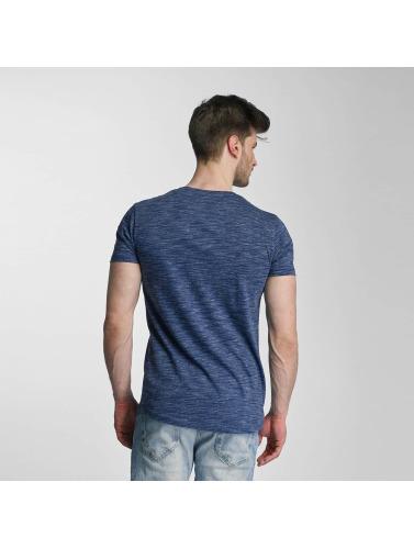 Lindbergh Herren T-Shirt Space Dyed O-Neck in blau Billig Verkauf Zahlung Mit Visa Verkauf Online-Shop E0lqLKenP8