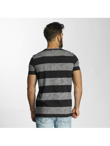 Lindbergh Herren T-Shirt Uneven Stripes in blau