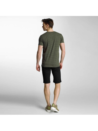 Lindbergh Herren T-Shirt Stretch V-Neck in olive