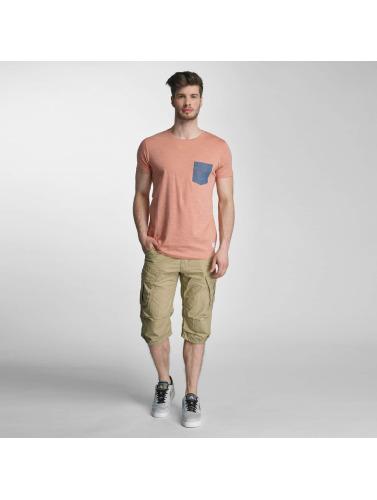 Lindbergh Herren T-Shirt Dyed O-Neck in rosa