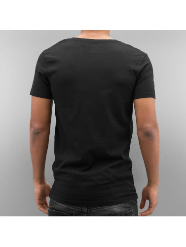 Lindbergh Herren T-Shirt Stretch in schwarz