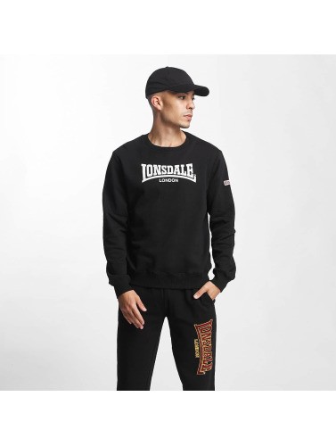 Lonsdale London Hombres Jersey Helston Slim Fit in negro