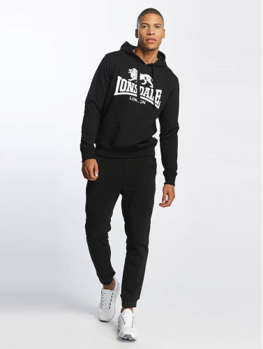 Lonsdale London Hombres Sudadera Gosport 2 in negro